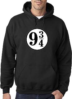 New Way 929 - Adult Hoodie 9 3/4 Harry Potter Hogwarts Express Unisex Pullover Sweatshirt