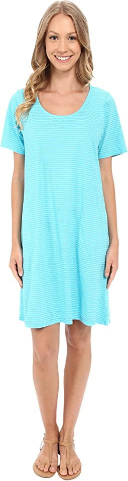 Fresh Produce - Pinstripe Allure T-Shirt Dress