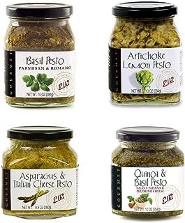 Elki's Gourmet - Bundle of Gourmet Sauces - 9-10 oz jars (4 Pesto Varieties)