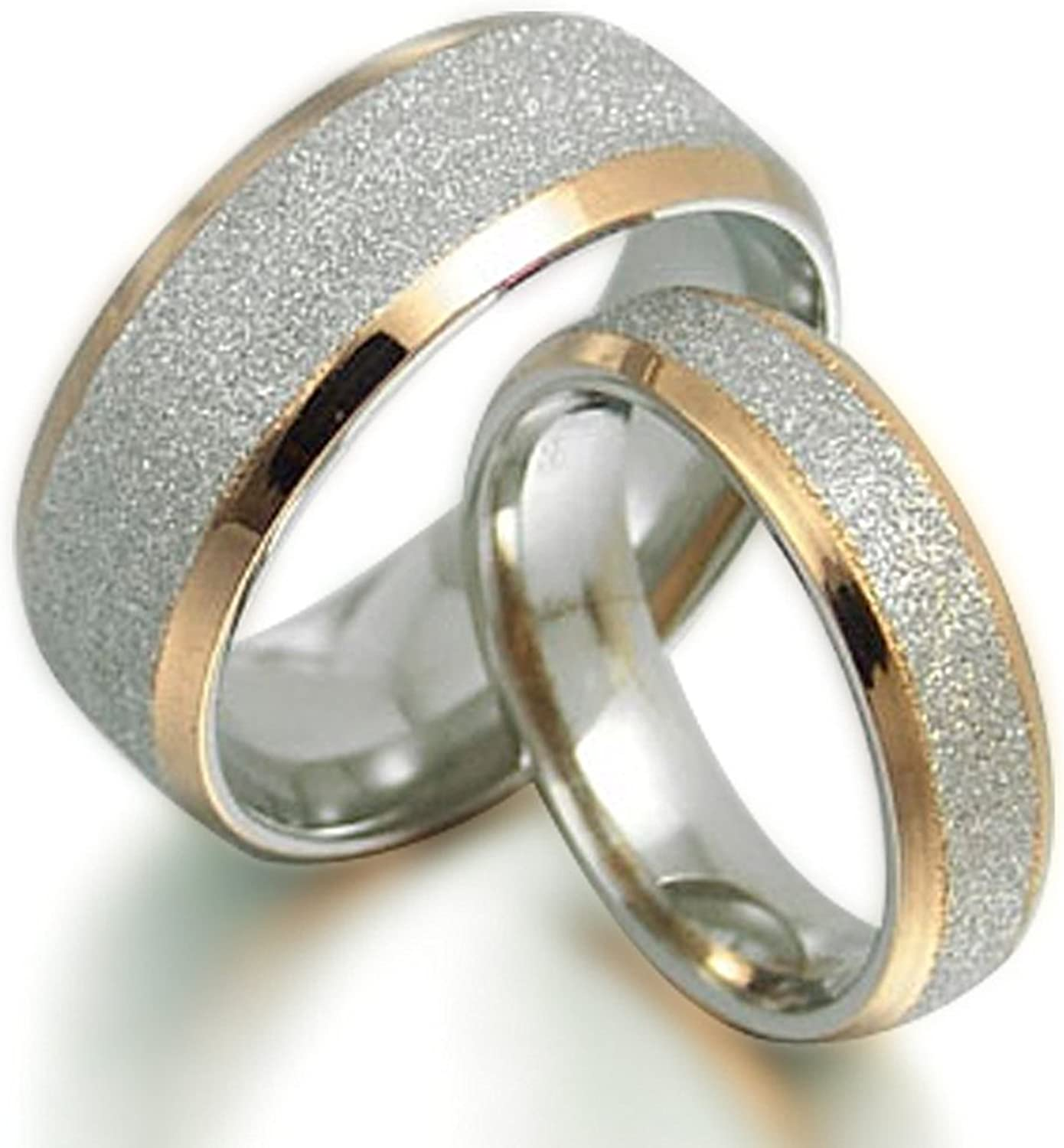 Gemini His and Her 18K Gold Wedding Year-end gift Rin Arlington Mall Filled Titanium Matching