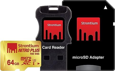 Strontium Nitro Plus MicroSDHC UHS-1 R95 W85 Memory Card With Adaptor ...