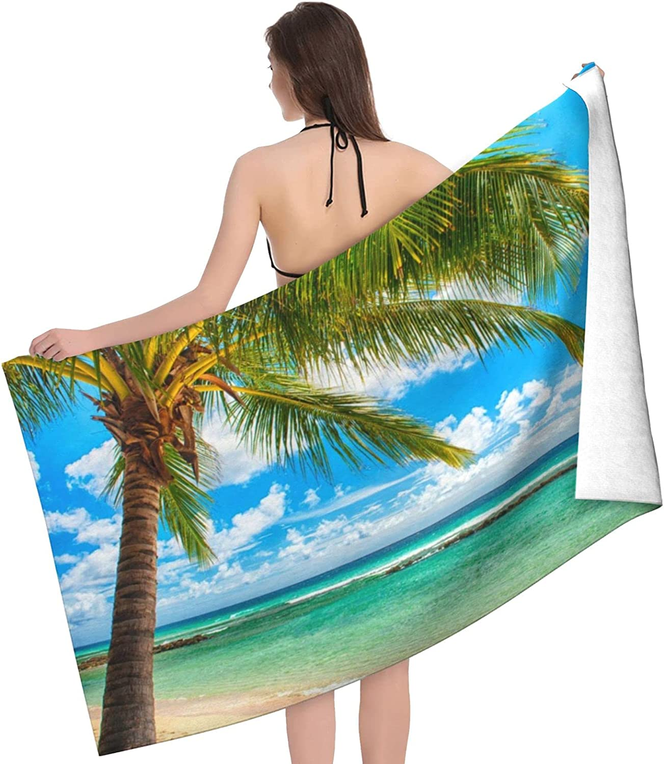 Beach Palm Tree Print Adult Double Colorado Springs Mall - Si Towels Choice Towel
