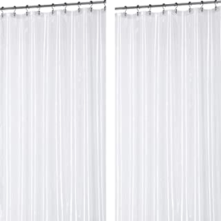 Utopia Bedding 10 Gauge Heavy Duty Clear Shower Curtain Liner - [2-Pack]