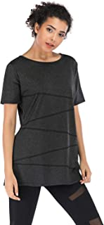 Cucuchy Womens Workout Shirts Short Sleeve Yoga Tops Casual Crew Neck Fitness Activewear