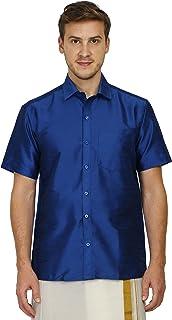 Varasiddhi Silks Men's Silk Casual Shirt