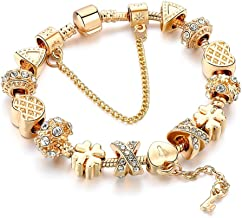 Choker Charm Bracelet,Gold Plated Bracelet With Lock And Key To My Heart
