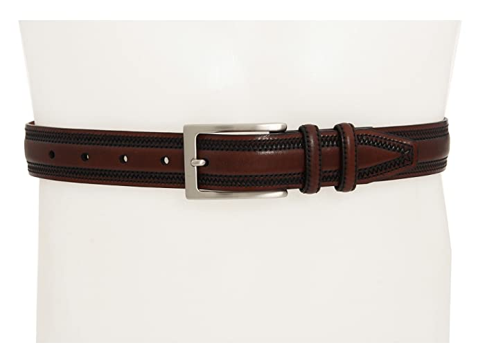 Johnston & Murphy Double-Pinked Belt (Chestnut) Men