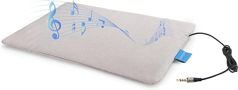 Smart Pillow Mat Ultra Thin Pillow Speaker Homemade Sleep Aid Music Sleep Monitoring Tracker And Intelligent Alarm Clock Bed Linings Pillow Headrest Audio Players Free APP