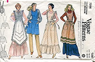 1970s Vogue Pattern 7256 Misses' Aprons, Vintage Sewing Pattern, Check Listings for Size