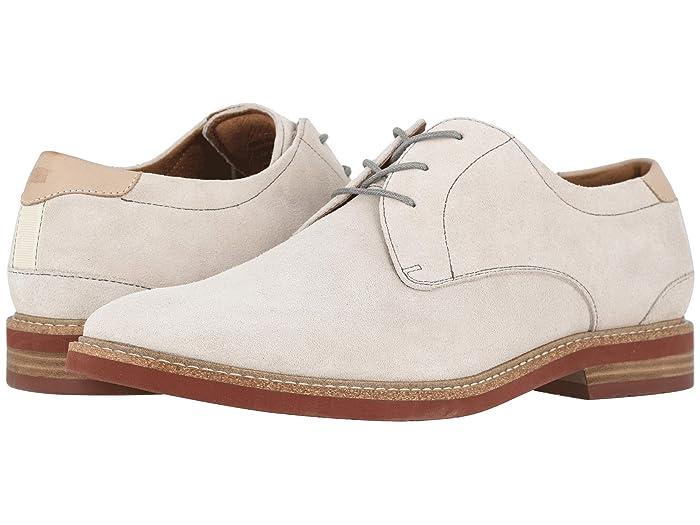 Florsheim  Highland Plain Toe Oxford (White Suede/Brick Sole) Mens Shoes