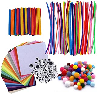 JUSTDOLIFE 590PCS Pipe Cleaner Craft Set Assorted Multifunctional Creative Art Supplies Set Handy for Arts and Crafts DIY ...