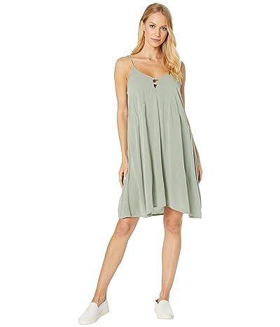 Roxy Full Bloom Woven Tank Dress (Lily Pad) Women
