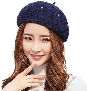 Womens Newsboy Cap Wool Winter Hat Visor Beret Cap Warm Soft Adjustable