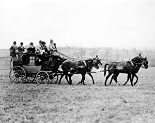 Stagecoach 1926 NwP Hulbert Arriving With His Guests For The Annual Cross Country Race For The Middleburg Hunt Cup In Middleburg Virginia Photograph 1926 Poster Print by (18 x 24)