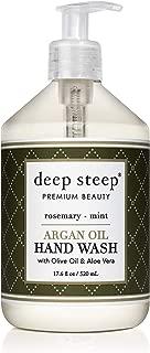 Deep Steep Argan Oil Liquid Hand Wash, Rosemary Mint, 17.6 Fluid Ounce