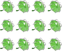djim45aoy 12Pcs Candy Tin Eye-catching Eco-friendly Umbrella Shape Plastic Candy Box Green