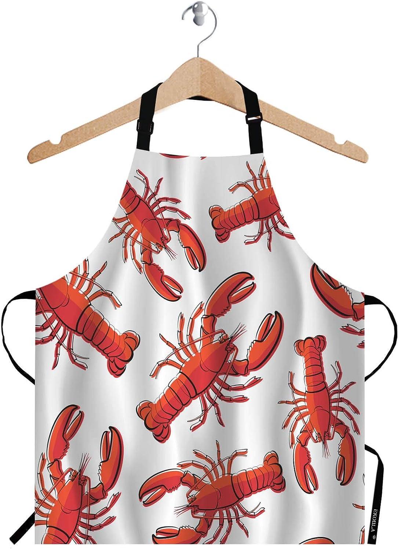 Regular discount EKOBLA Lobsters Aprons Red Nautical Decorative Fresh Max 53% OFF Crayfish Se