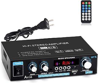 Facmogu AK35 90W+90W Mini HiFi Digital Amplifier, 2 Channel Bluetooth 5.0 Sound Amplifier Speaker Amp, Surround Sound FM U...