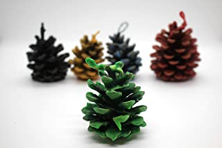 Pine cone fire starters for fireplaces, Christmas gifts ideas, Favors Eco fire starters, Pine cone in wax, Colored pine cones, Wedding decor
