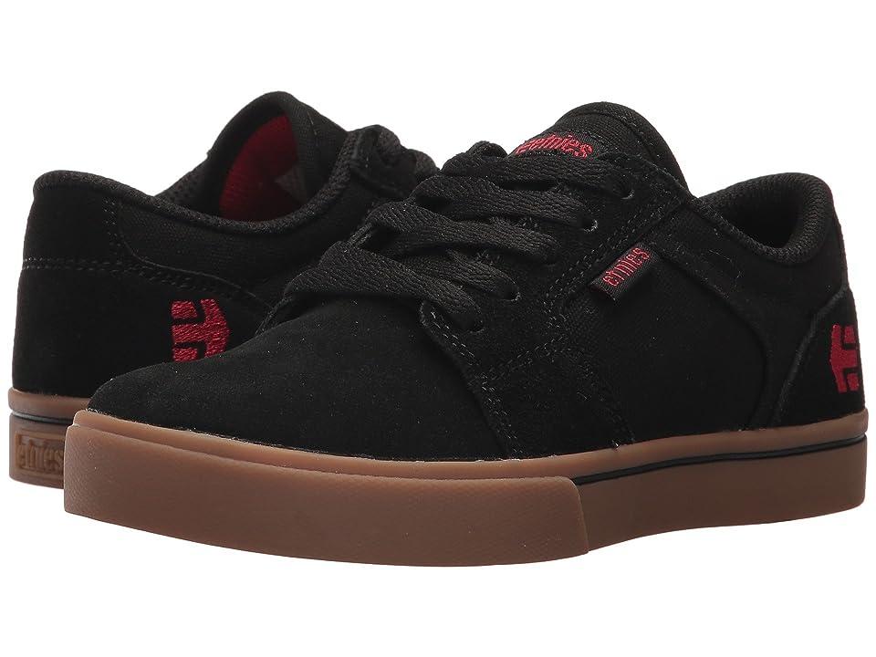 etnies Kids Barge LS (Toddler/Little Kid/Big Kid) (Black/Gum) Boys Shoes