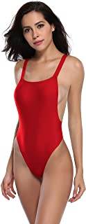 SHEKINI Women One-Pieces Swimwear Bikini Sexy Backless High Cut Low Back One Piece Thong Bathing Suits for Women One Piece...