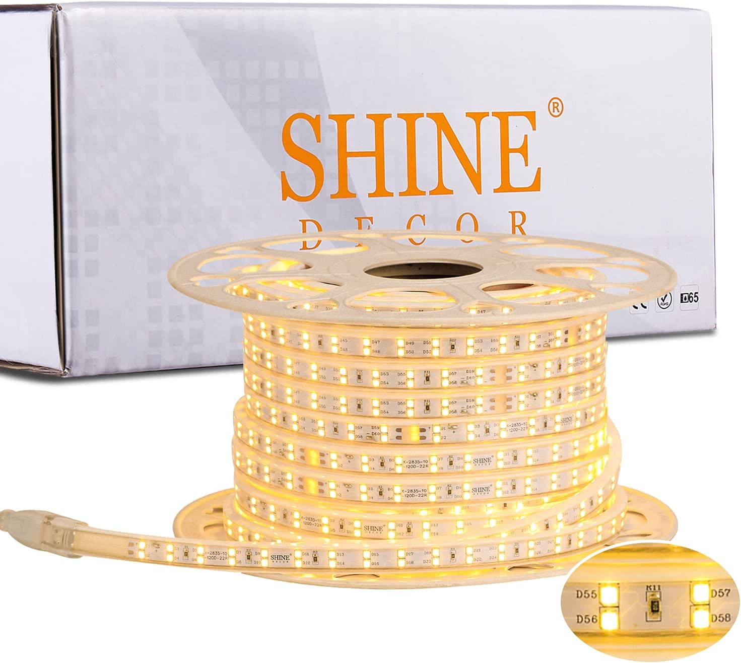 Shine Decor LED Strip Lights Sales Ro Dimmable Brightness Max 58% OFF Double 82FT