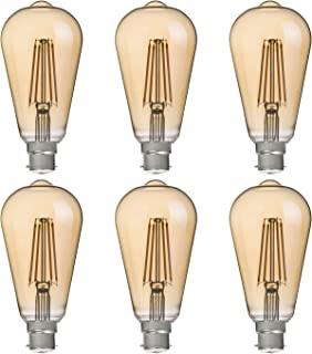 FLSNT ST64 LED Vintage Edison Bulbs 40 Watts Equivalent,B22 Base 4.5W LED Filament Light Bulbs,2700K Soft White,330LM,CRI8...