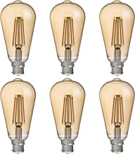 FLSNT ST64 LED Vintage Edison Bulbs 40 Watts Equivalent,B22 Base 4.5W LED Filament Light Bulbs,2700K Soft White,330LM,CRI8...