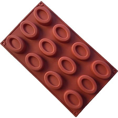 MKNzone 1 Moule en silicone Pour Muffins, Cupcake Et Gelée - Mini beignets ovales, Livraison aléatoire(29.7 X 17.2 X 1.7 cm)