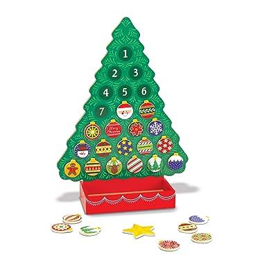 De Melissa & Doug, calendario de madera con cuenta regresiva a la Navidad, Anaranjado