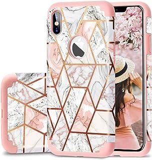 Fingic - Carcasa para iPhone 6/6s con diseño de mármol, Compatible con iPhone XS MAX (Fabricado en Silicona y PC)