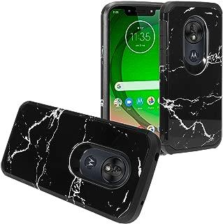 Z-GEN - for T-Mobile REVVLRY, Motorola Moto G7 Play, G7 Optimo XT1952/DL - Hybrid Image Phone Case - AD1 Black Marble