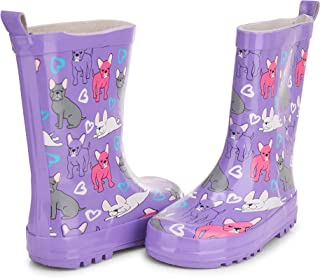 Chatties Girls' Little Big Kid Slip On Printed Colorful Rain Boots