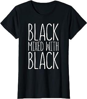 Womens Black Mixed With Black T-Shirt Black Pride Gift T-Shirt
