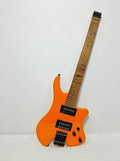 Kapok Gloss Orange Headless Electric Guitar, H-H, Solid Body +Free Bag KAHL001/ORG