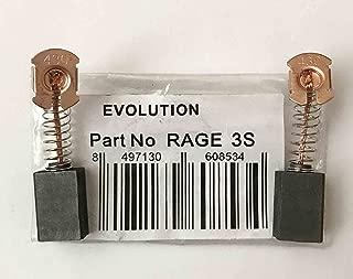 Genuine CARBON BRUSHES Evolution Rage 3-s b&q stealth 210mm mitre saw T25G