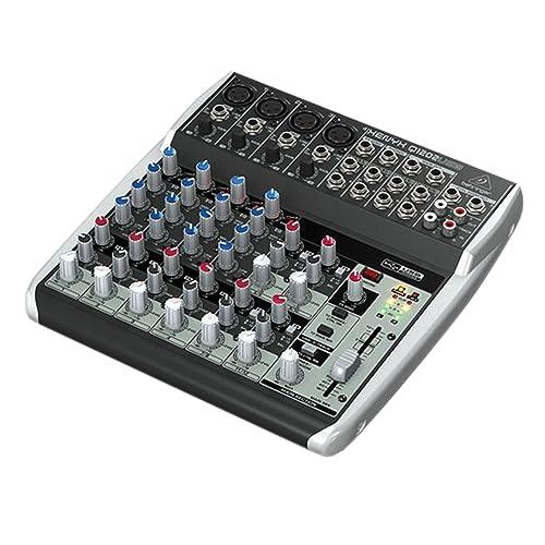 Behringer Q1202USB Xenyx Premium 12 Kanal 2-Bus Mixer mit Mic Preamps/Kompressoren/British EQs Und USB/Audio Interface