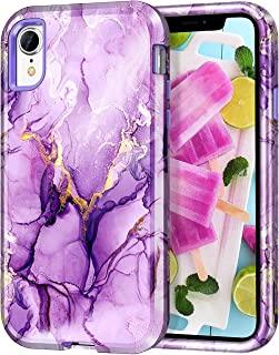 Lamcase Compatible with iPhone XR Case 6.1 inch, Heavy Duty Full Body Shockproof Hybrid Hard PC Soft TPU Rubber Three Laye...