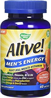 Alive Men's Energy Soft Jell Multivitamis 60 soft jells by Alive