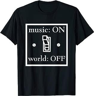 music on world off t shirt
