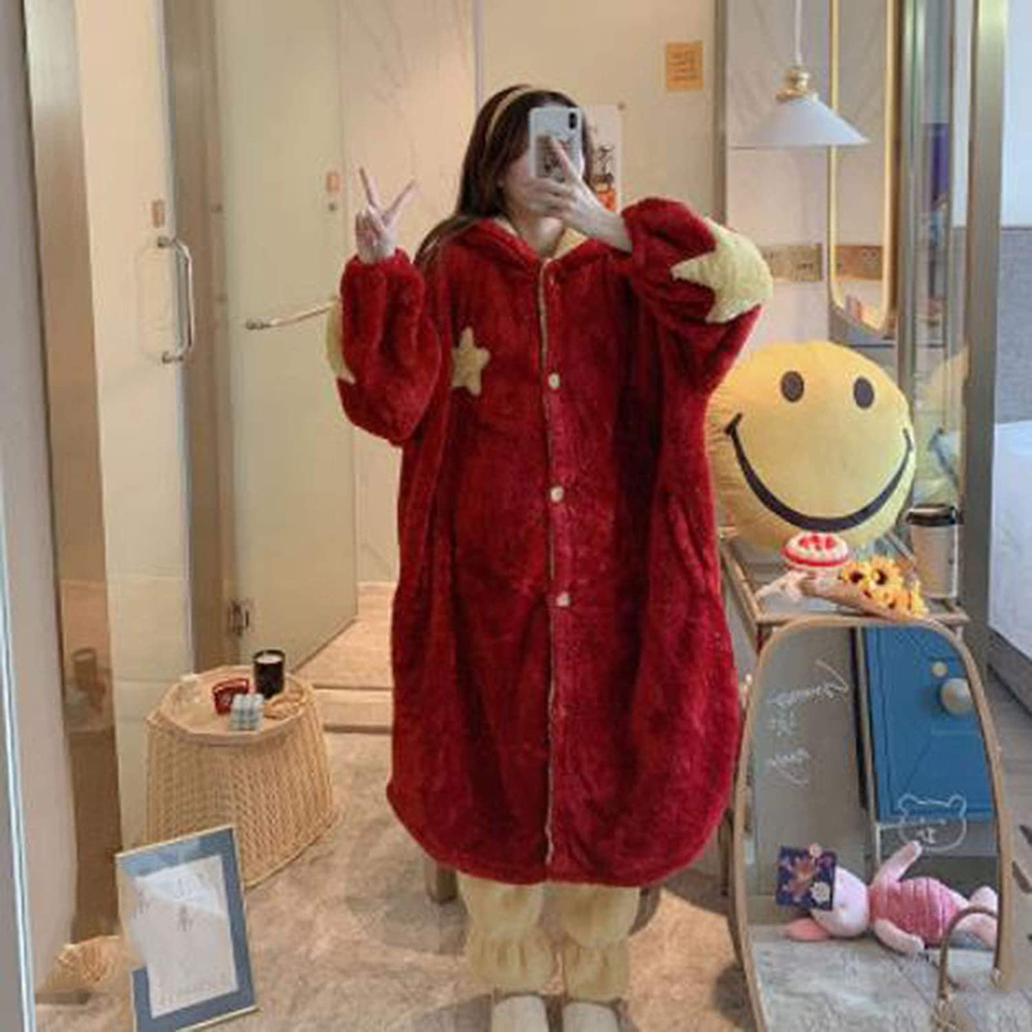 qazx Thick and Warm Winter Pajamas Al sold out. Velvet Cute Coral Max 84% OFF