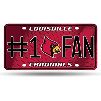 NCAA Rico Industries  #1 Fan Metal License Plate Tag Louisville Cardinals