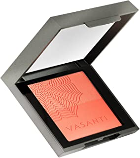 Blush Duo by VASANTI - Enriched with Lotus, Orchid & Evening Primrose - Paraben Free (Life's a Peach (for a glowing golden peach flush))