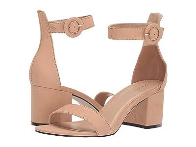 Massimo Matteo Strappy Block Heel (Nude Nubuck) Women