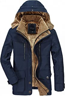 APTRO Mens Coats Winter Padded Jacket Warm Casual Overcoat Thick Thermal Outwear with Hood Vintage Coat xy868