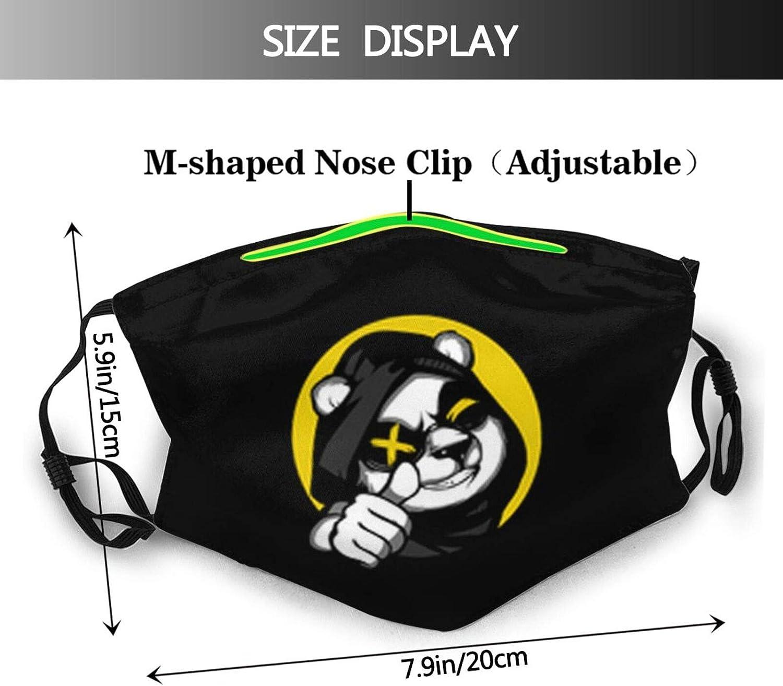 Set Of Panda Silhouettes Set Face Mask Washable & Reusable - Adjustable & Breathable Fliter Fashion Scarf