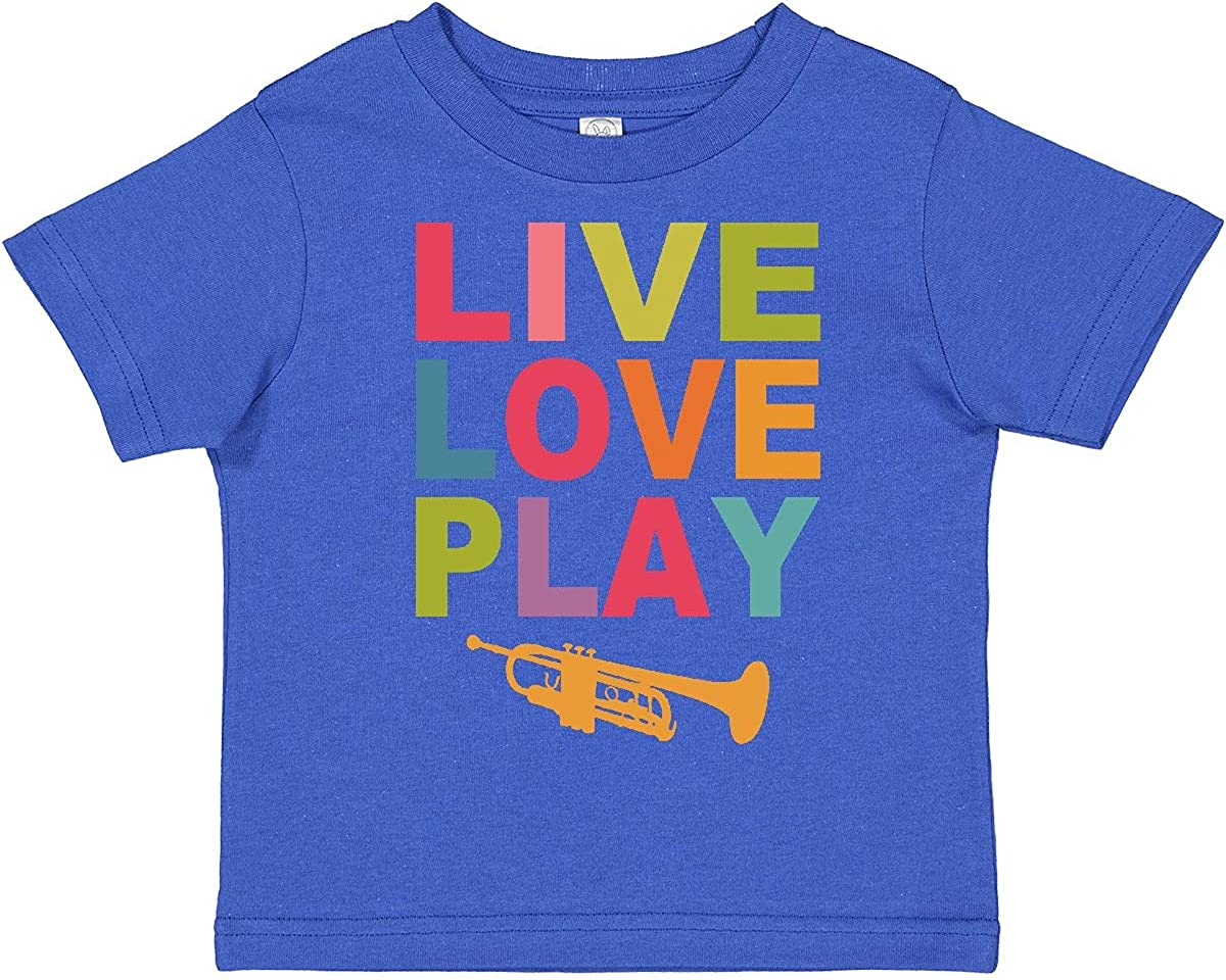 inktastic Live Love Play The Trumpet Toddler T-Shirt