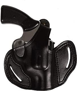 Pusat Revolver Leather Holster Handcrafted Colt Lawman MK III 2 Barrel-inch Snubnose 357 Magnum Black-Brown