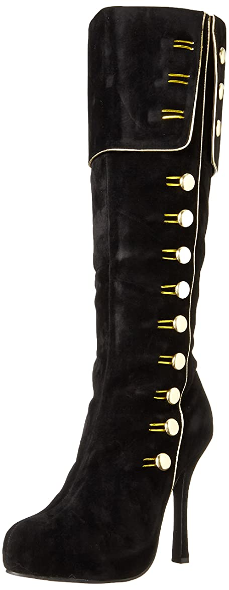二週間やけど困惑Ellie Shoes Women's 420 Elda Boot, Black/Gold, 8 M US
