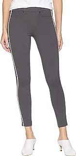 Womens Chloe Ankle Leggings Double Stripe in Super Stretch Ponte Knit